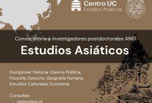 Convocatoria a investigadores postdoctorales ANID en Estudios Asiáticos