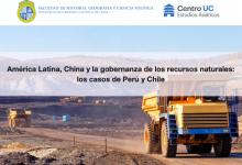 """Seminario de Investigación: """"America Latina, China y la gobernanza de los recursos naturales: los casos de Perú y Chile"""""""
